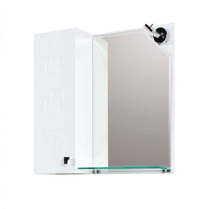 Горен шкаф за баня с огледало Макена Лазур