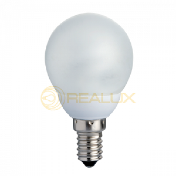 Eнергоспестяваща лампа NEW LINE сфера (стъкло)  G45 7W E14 2700K