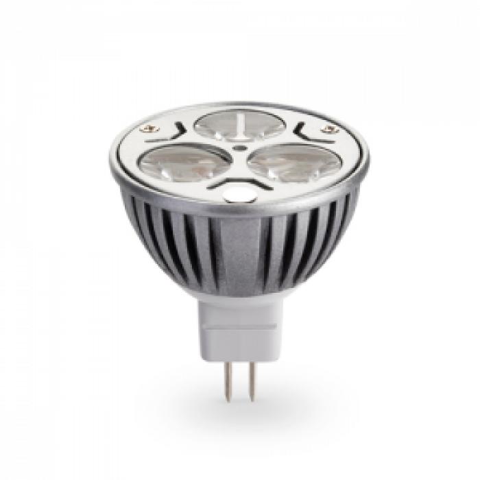 Лампа LED MR16 3x1W 12V бяла светлина