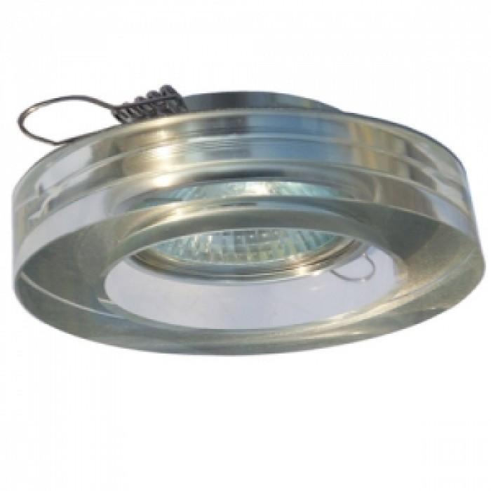 Халогенна луна кръгла с алуминиева основа и стъкло