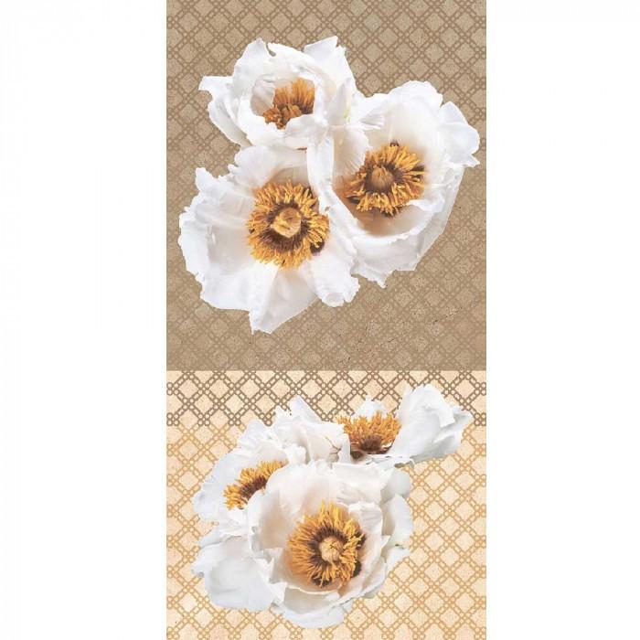 Стенна декоративна плочка Legend цветя лукс 250 x 500мм