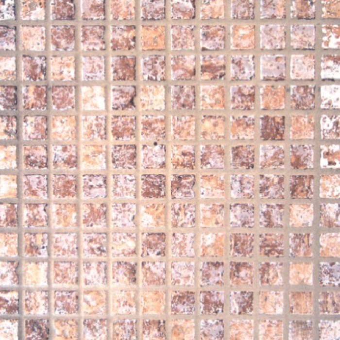 Глазиран гранитогрес 333x333 Мозайка кафяв мат