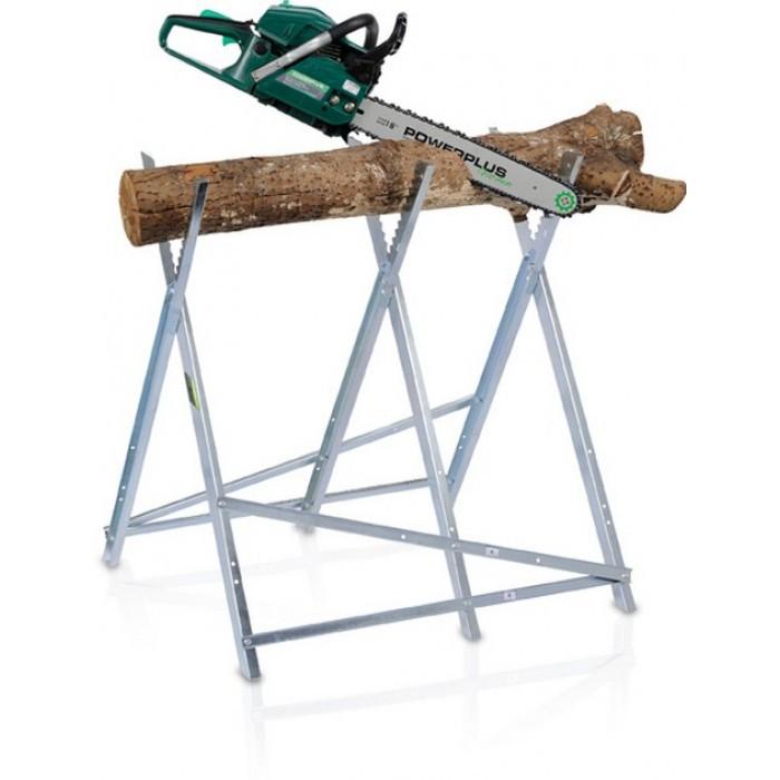 Поставка за рязане на дърва Powerplus 83см