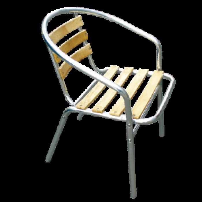 Градински стол алуминий и PVC дърво