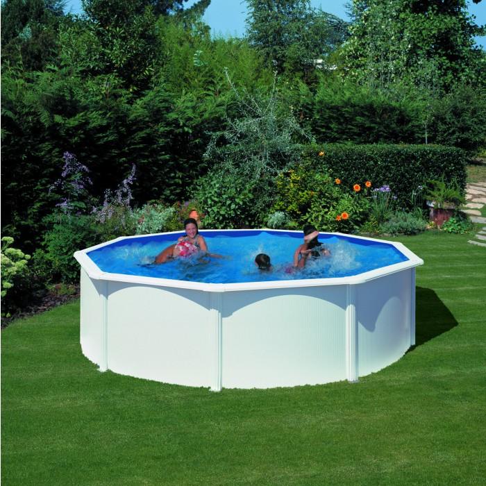 Сглобяем метален басейн с филтърна система кръг 460x120cм
