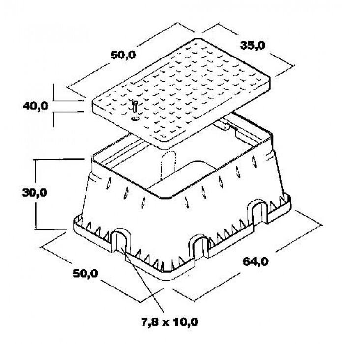 Кутия за електромагнитен клапан тип JUMBO квадратна