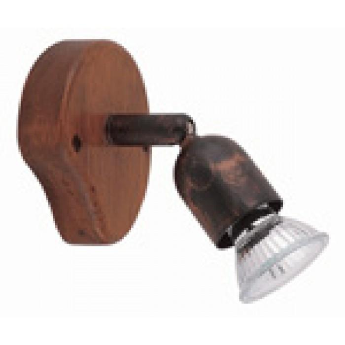 Спот дърво - цвят орех 1x50W