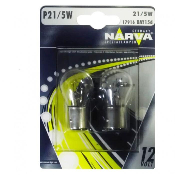Крушки Narva P21 5W 12V 21/5W bay15d блистер