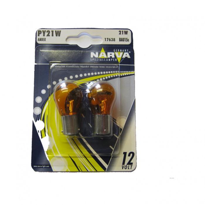 Крушки Narva PY21W 12V 21W bau15s amber блистер
