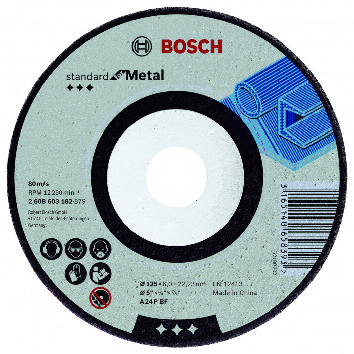 Диск за шлайфане на метал Bosch ø125х6х22.23мм огънат