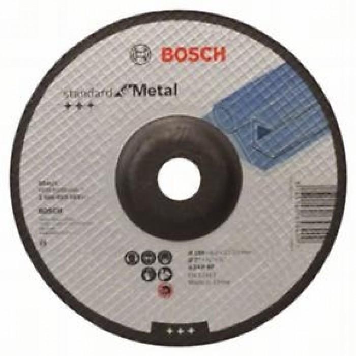 Диск за шлайфане на метал Bosch 180x6x22.23 огънат