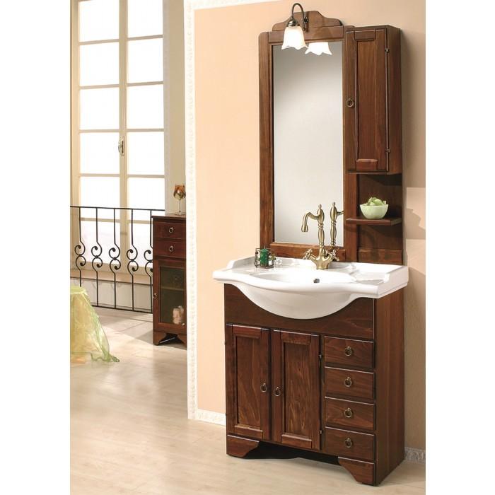Долен шкаф за баня от дърво с умивалник Чинция 7063