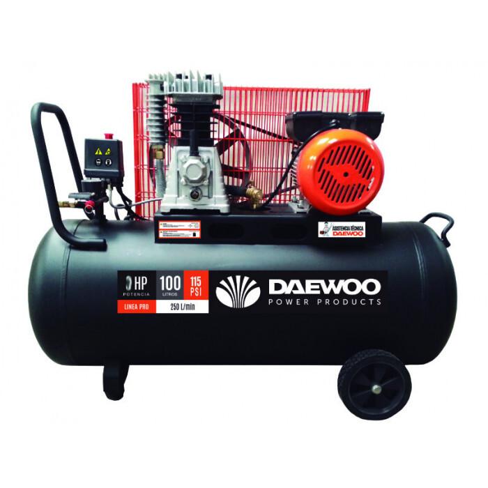 Компресор бутален DAEWOO DAC100C, 3.0HP/2.2 kW/ 100 l/ ремъчен