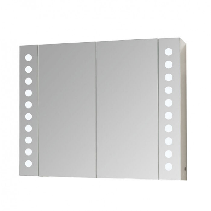 Горен PVC шкаф за баня с огледало Макена Парадайз 80х65х15см
