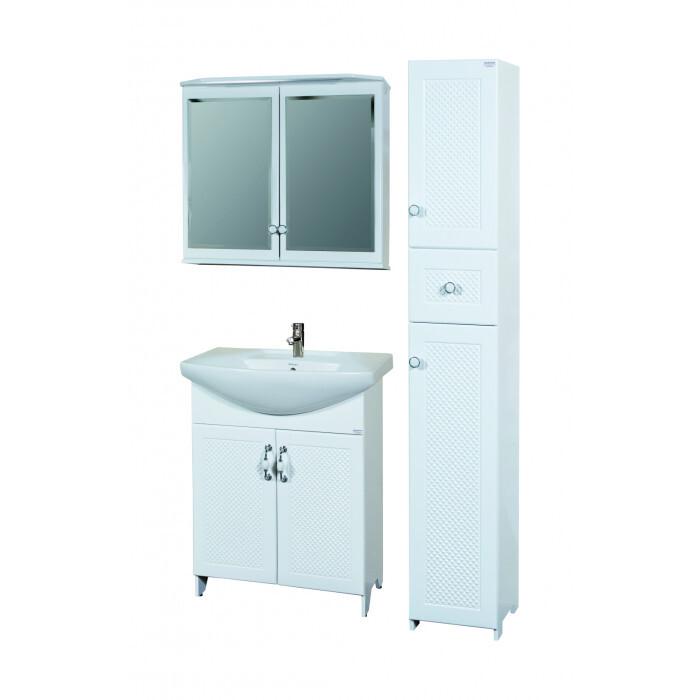 Долен шкаф за баня с мивка и плавно затваряне Макена Графит 70х85х50см
