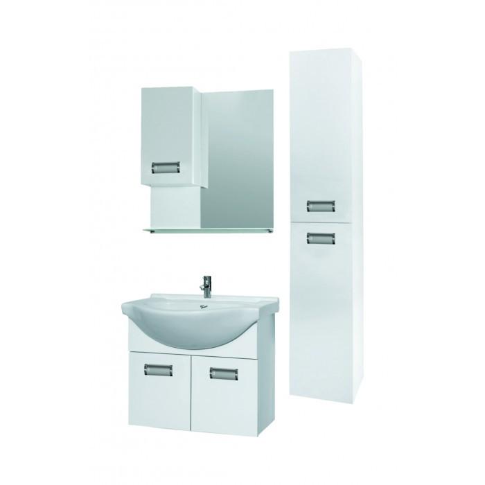 PVC шкаф - колона за баня с плавно затваряне Макена Яна 24х100х18см