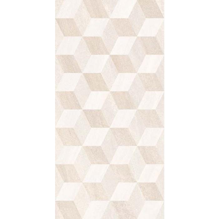 Стенни декоративни плочки IJ Калисто ромб 250x500мм крем
