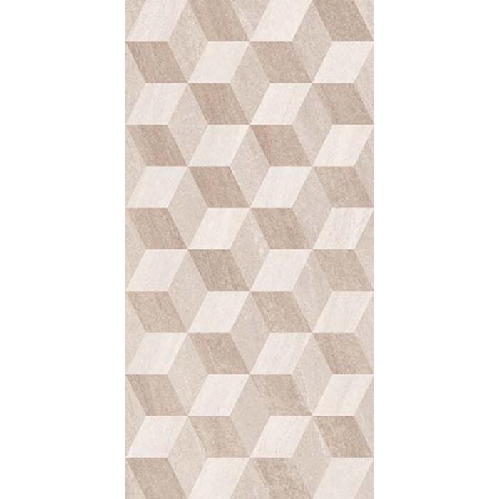Стенни декоративни плочки IJ Калисто ромб 250 x 500мм бежови