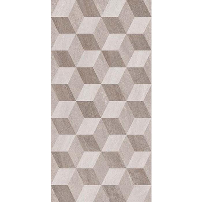 Стенни декоративни плочки IJ Калисто ромб 250 x 500мм сиви