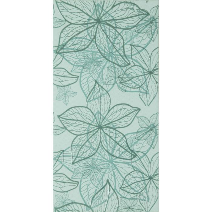 Стенни декоративни плочки IJ Изола цветя 250 x 500мм зелени