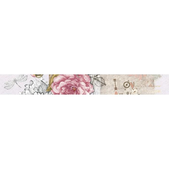 Стенна декорация фриз IJ Ажур роза 60 x 500мм светлорозова