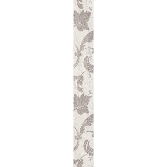 Стенни декоративни плочки фриз IJ Нове листа 60x500мм светлосиви
