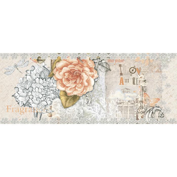 Стенни декоративни плочки IJ Ажур роза 200x500мм светлобежови