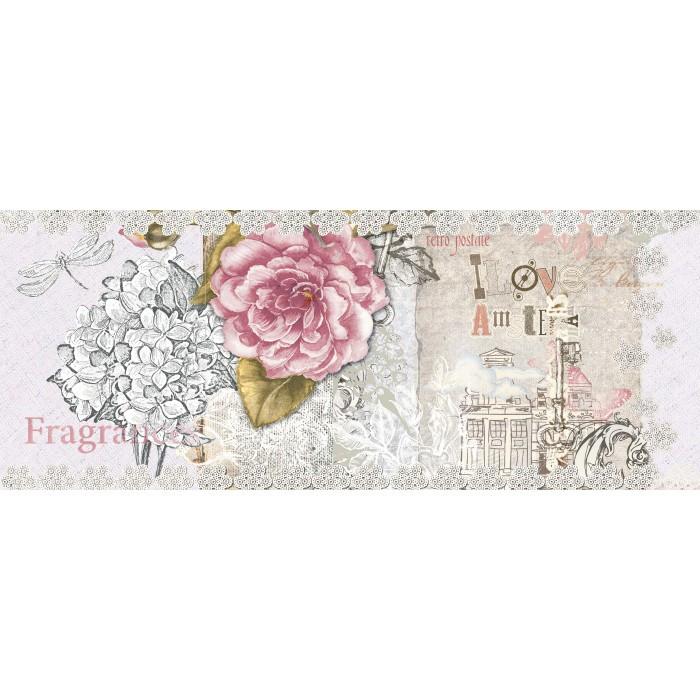Стенни плочки за декорация IJ Ажур роза 200 x 500мм светлорозови