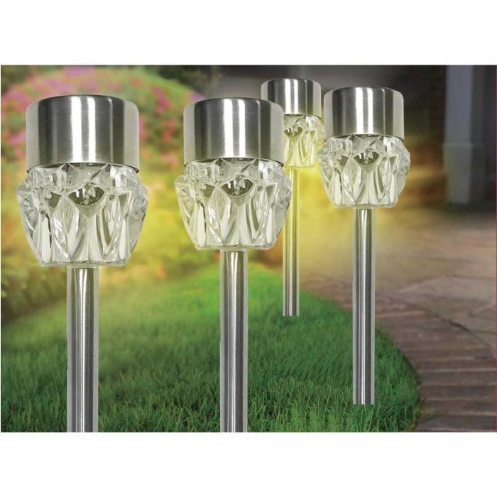 Соларна LED лампа за градина с променящи се цветове SS-6036 метал