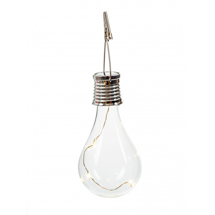 Соларна LED крушка SР-6160 с кукичка за окачване и клипс