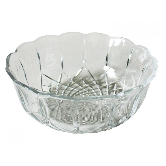 Стъклена купа с форма на цвете Т5-516 / 22см