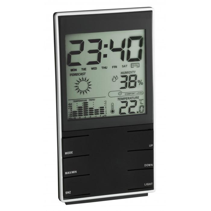 Стайна дигитална метеорологична станция черна 0°C ÷ +50°C