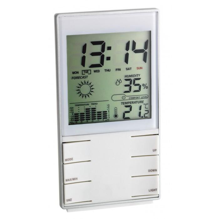 Стайна дигитална метеорологична станция бяла  0°C ÷ +50°C