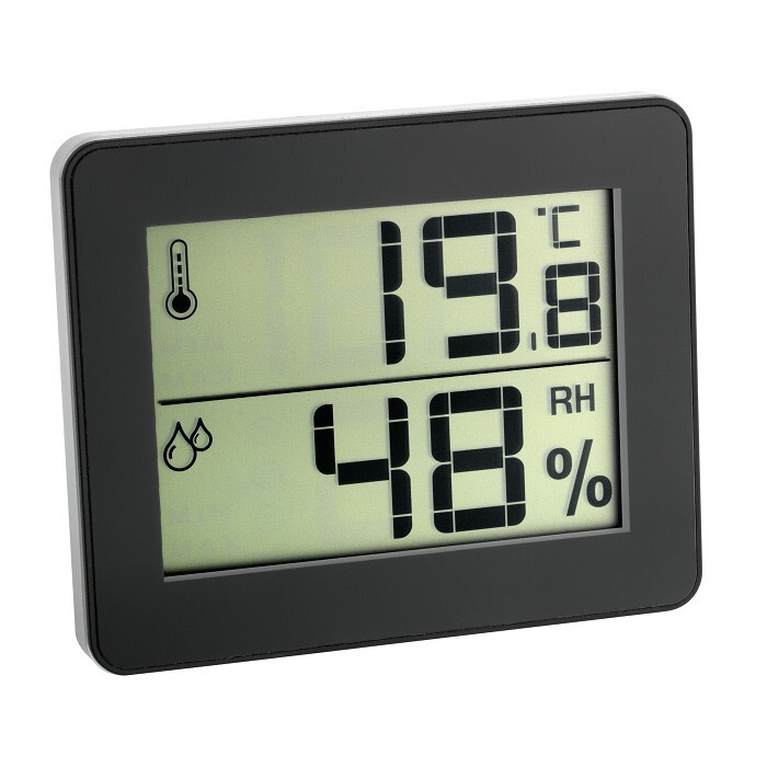 Цифров термометър - хидрометър черен 0°C - 50°C
