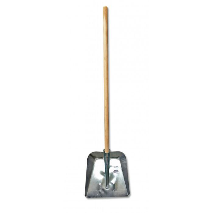Метална поцинкована лопата за сняг Grasko с дръжка 120см / ширина 38,5см
