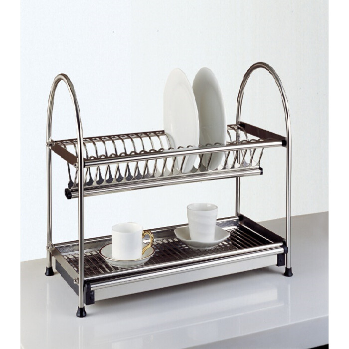 Кухненска сушилка за прибори Интер Керамик двойна / 35,1x27x40,2см