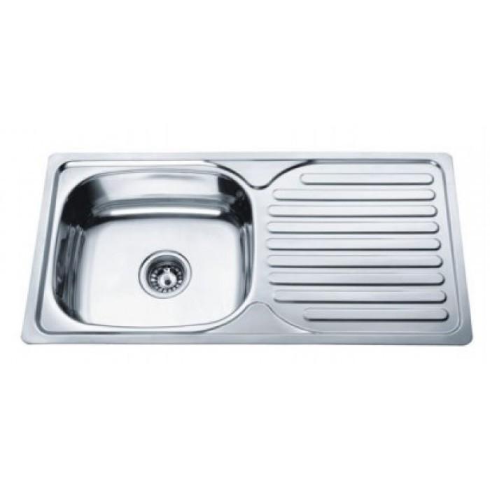 Метална мивка за кухня Cascada 86х43х17см дясна