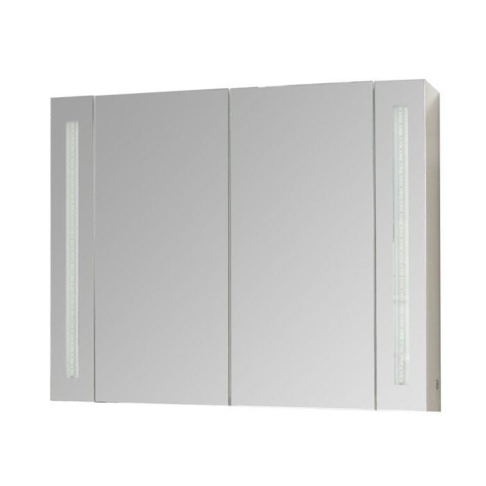 Горен PVC шкаф за баня с огледало Макена Ива