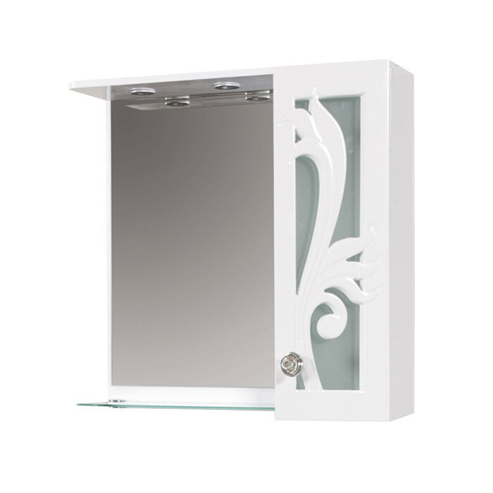Горен PVC шкаф за баня с огледало Макена Торино