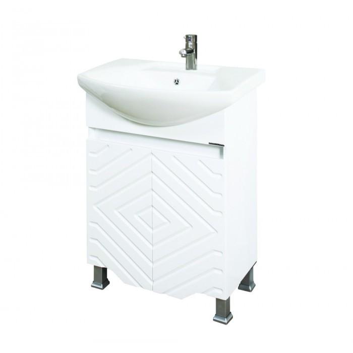 Долен PVC шкаф за баня с мивка Макена Модена