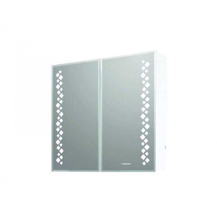 Горен PVC шкаф за баня с огледало Макена Модена