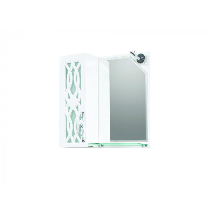 Горен PVC шкаф за баня с огледало Макена Алабама