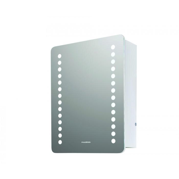 Горен PVC шкаф за баня с огледало Макена Лайт