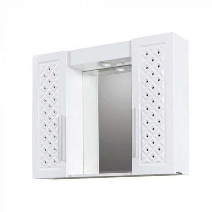 Горен PVC шкаф за баня с огледало Макена Хера