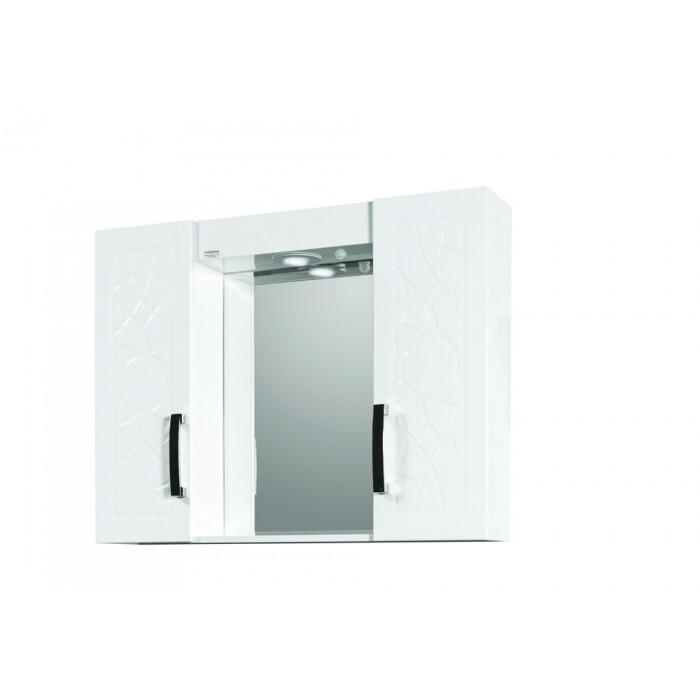 Горен шкаф за баня с огледало Макена Екстра