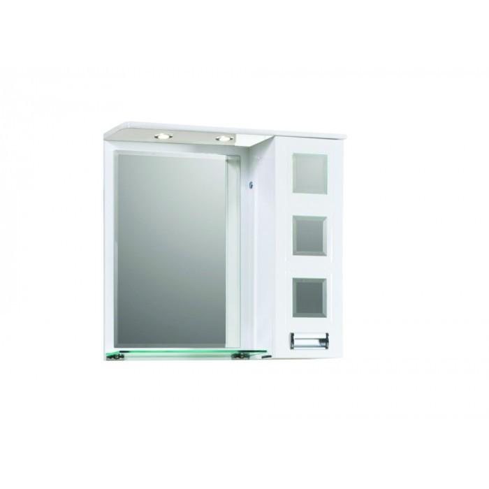 Горен PVC шкаф за баня с огледало Макена Рива