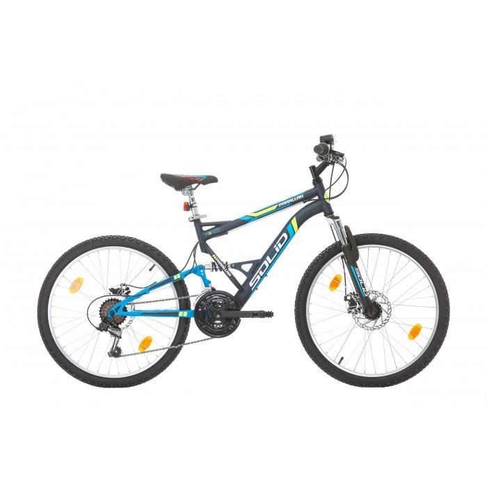 "Велосипед Solid Parallax 24"" 18 скорости син"