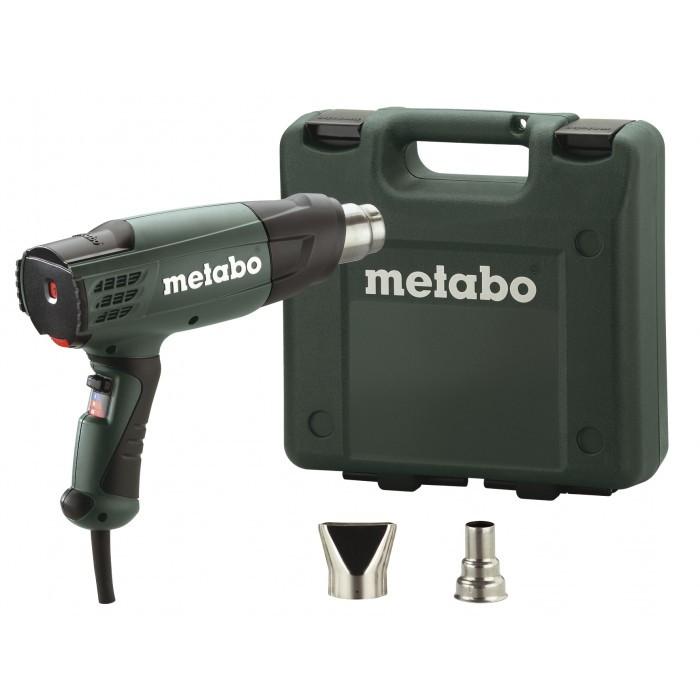 Пистолет за горещ въздух Metabo H 20-600 в куфар с дюзи