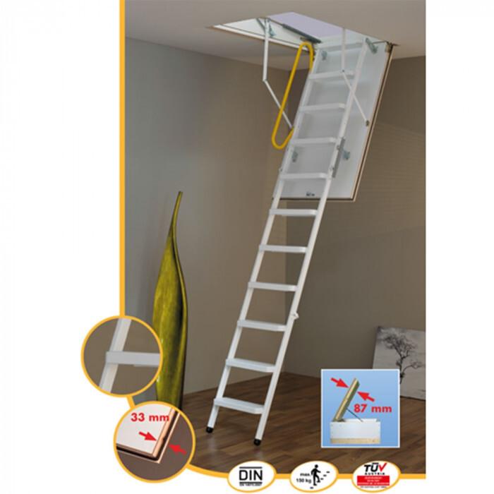 Сгъваема метална таванска стълба Minka Steel 120х70 / светъл отвор / 280 cm