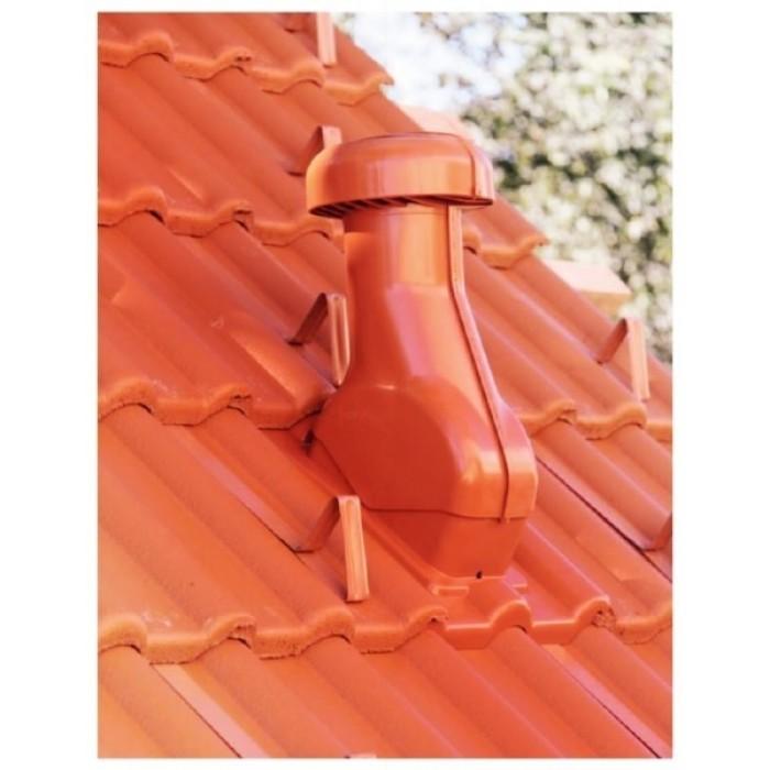 Отдушник за керемида - универсален / червен цвят